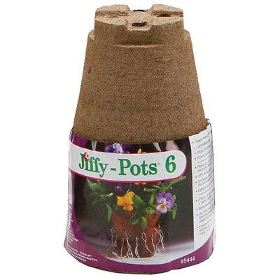 "Ferry Morse/Jiffy 4"" Round Pots (Set of 6)"