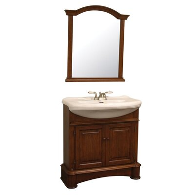 Pegasus Valenza 34&quot; Bathroom Vanity Set in Cherry