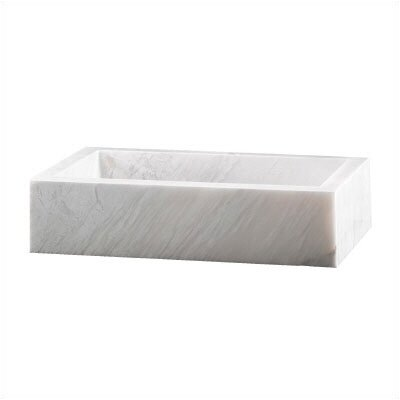 Pegasus Rectangular Block White Vessel Sink