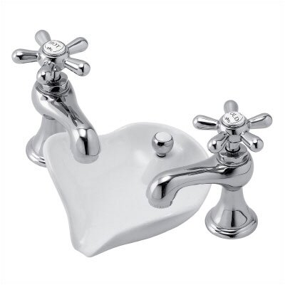 Pegasus 6100 Series Widespread Bathroom Faucet with Hot And Cold Cross Handles