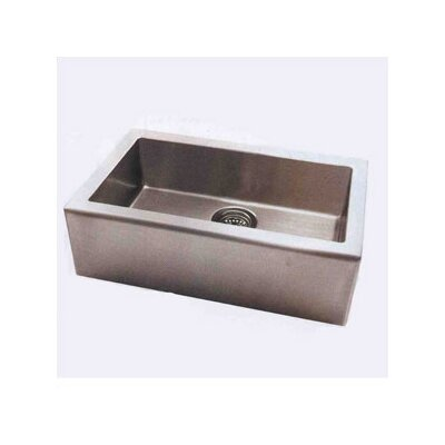 "Pegasus Apron 33"" x 20"" Single Extra Deep Bowl Kitchen Sink"