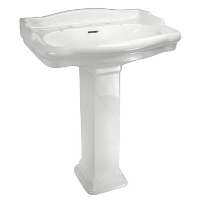 Elizabethan Classics English Turn Pedestal Sink Top with Centers (Bowl Only)