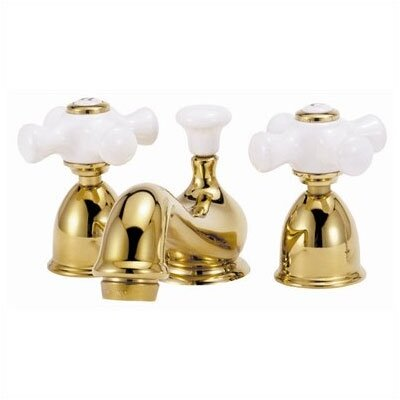 Mini - Widespread Bathroom Faucet with Double Porcelain Cross Handles - MW05