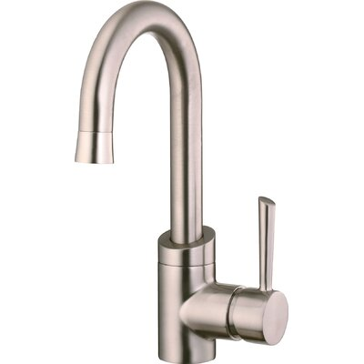Single Handle Single Hole Spout Reach Kitchen Faucet with Metal Lever Handle