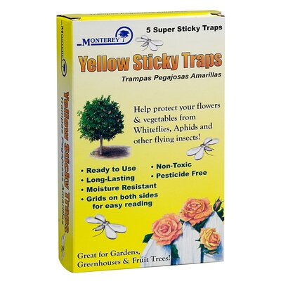 Monterey Lawn and Garden Yellow Sticky Traps (Set of 5)
