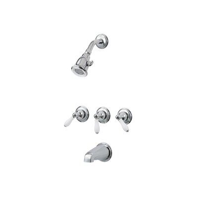 Price Pfister Tub and Shower Faucet with Three Lever Handles