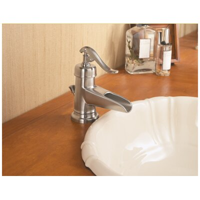 Pfister ashfield single handle single hole waterfall bathroom faucet reviews wayfair for Single hole waterfall bathroom faucet