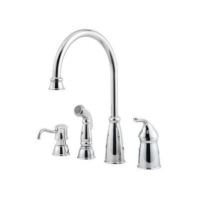 Price Pfister Avalon One Handle Widespread Kitchen Faucet with Soap or Lotion Dispenser and Side Spray