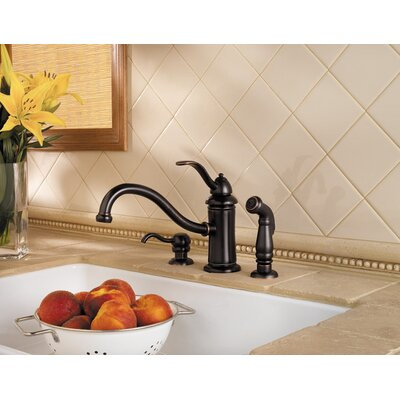 Price Pfister Marielle One Handle Kitchen Faucet with Sidespray and Soap Dispenser