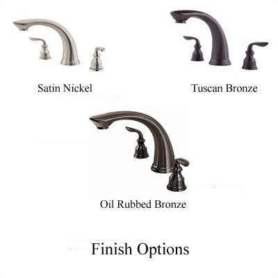 Price Pfister Avalon Double Handle Deck Mount Roman Tub Faucet