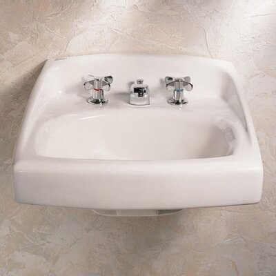 Lucerne Wall Hung Bathroom Sink Throu Bolt Support on Backsplash for Wall Anchors - 0355.041 ...