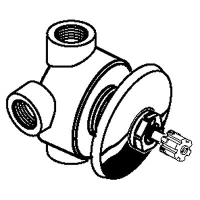 American Standard 3 Way in Wall Diverter Valve