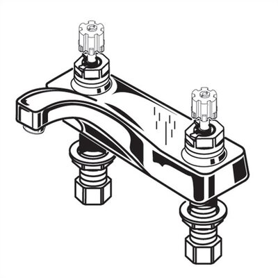 American Standard Heritage Centerset Bathroom Faucet with Double Cross Handles