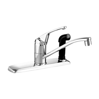 Colony Single Handle Centerset kitchenFaucet with Integral Side Spray