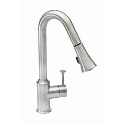 Pekoe Single Handle Single Hole Pull Down kitchenFaucet with Pull Down Spray