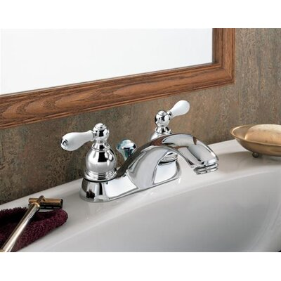 Hampton Centerset Bathroom Faucet with Double Porcelain Lever Handles - 7411.712