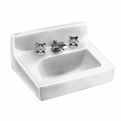 Penlyn Wall Hung Bathroom Sink with Extra Hole for Lotion Dispenser - 0373043