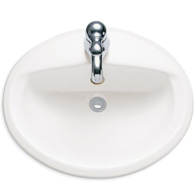 Aqualyn Countertop Bathroom Sink with Center and Extra Left - Hand Hole - 0475035