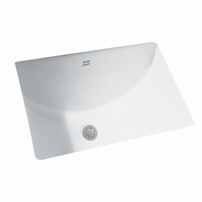 American Standard Studio Undercounter Bathroom Sink with Glazed Underside