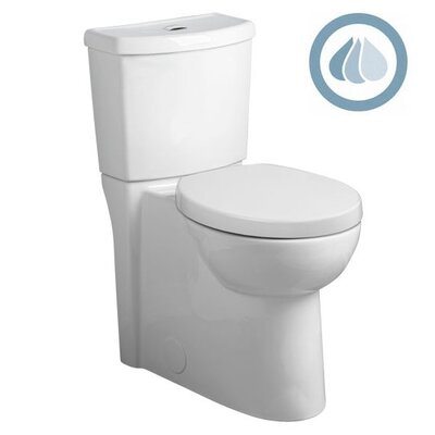 Studio Concealed Trapway Dual Flush Right Height 1.1 GPF / 1.6 GPF Round Front 2 ...