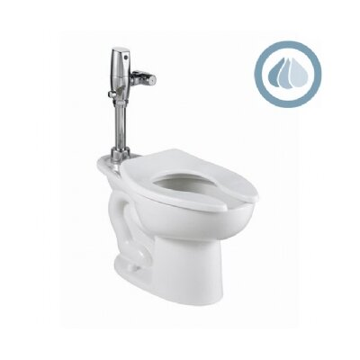 American Standard Madera Universal 1.1 GPF / 1.6 GPF Elongated Toilet Bowl Only with Top Spud and 4 Anchor Holes