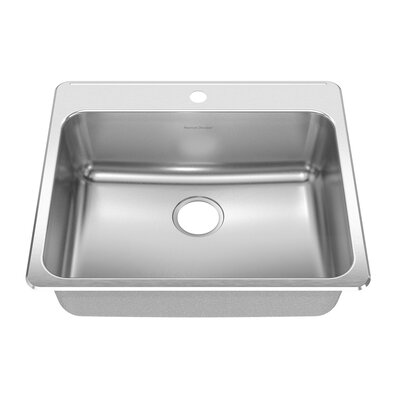 25 x 22 drop in single bowl kitchen sink wayfair for Kitchen 17 delivery