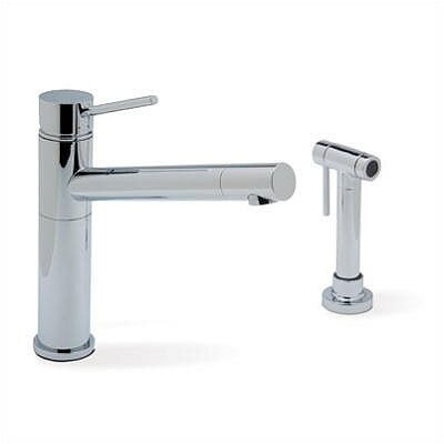 Alta Single Handle Single Hole Kitchen Faucet with Metal Side Spray