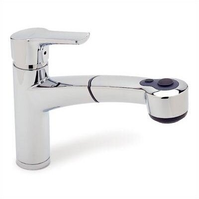 Blanco Merkur Single Handle Single Hole Plus Kitchen Faucet with Pull-Out Spray