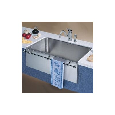... Large Single Bowl Kitchen Sink with Apron and Towel Bar | Wayfair