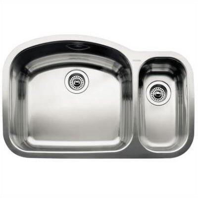 "Blanco Wave 32.09"" x 20.88"" x 10"" Bowl Undermount Kitchen Sink"