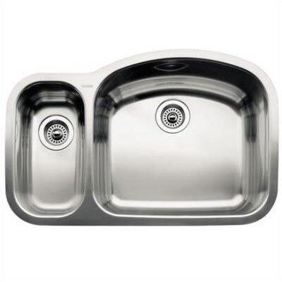 """Blanco Wave 32.09"""" x 20.88"""" Reverse Bowl Undermount Kitchen Sink"""