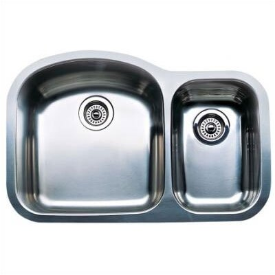 "Blanco Wave 31.5"" x 20.88"" x 10"" Plus Bowl Undermount Kitchen Sink"