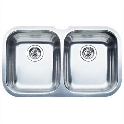 "Blanco Niagara 30.63"" x 18.13"" Equal Double Bowl Undermount Kitchen Sink"