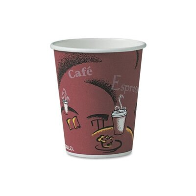 Solo Cups Company Bistro Design Hot Drink Cups, 10 Oz., 300/Carton
