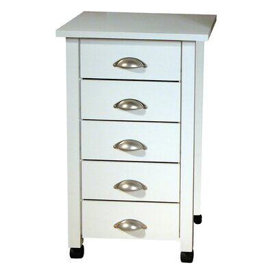 Venture Horizon Five Drawer Mobile Cart