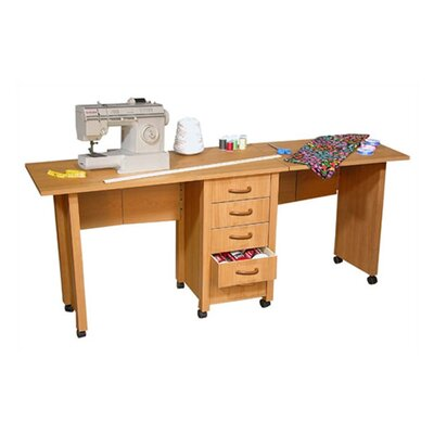 "VHZ Office 70"" W Mobile Craft Double Desk"