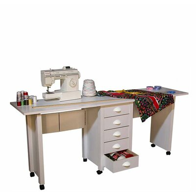 "Venture Horizon VHZ Office 70"" W Mobile Craft Double Desk"