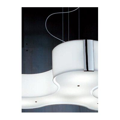 Studio Italia Design Tris Suspension in Milk-white Diffuser
