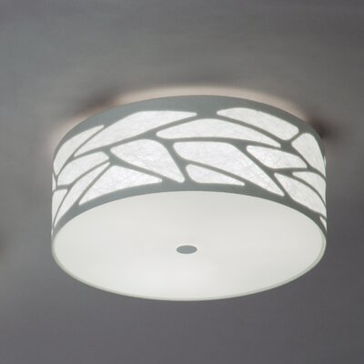 Studio Italia Design Grace Cylinder Ceiling Fixture with Custom Fabric Diffuser