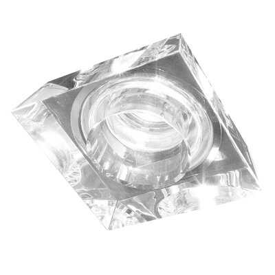Studio Italia Design Ice-Cambio Squared Glass Recessed Fixture with Housing