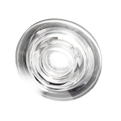 Studio Italia Design Ice-Twin Flat Round Glass Recessed Fixture with Housing