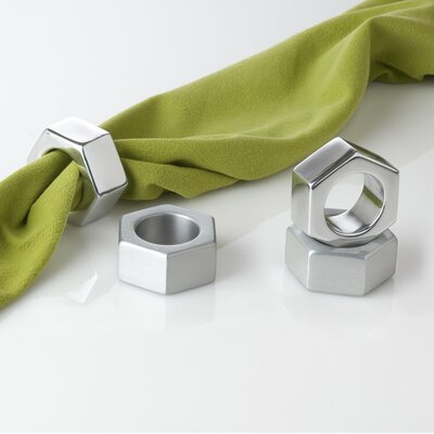 Museum of Robots Nut Napkin Ring in Brushed (Set of 4)