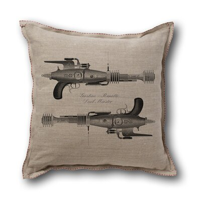 Museum of Robots Retro-Futuristic Artifacts Dueling Rayguns Pillow Cover