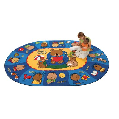 Carpets for Kids Printed Sign, Say, and Play Kids Rug