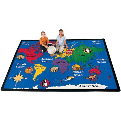 Carpets for Kids Geography World Explorer Kids Rug