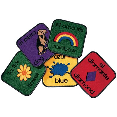Carpets for Kids Carpet Kits Printed Bilingual Tile Kids Rug (Set of 18)