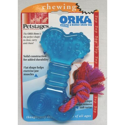 Orka Bone Chew Dog Toy in Multi Colored