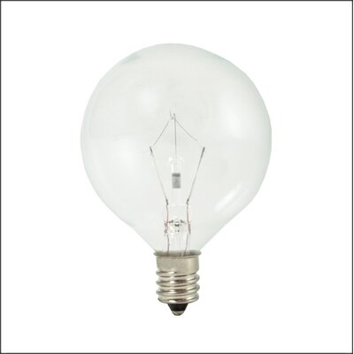 Bulbrite Industries 25W Krystal Touch G16 Globe Chandelier Bulb in Bright White