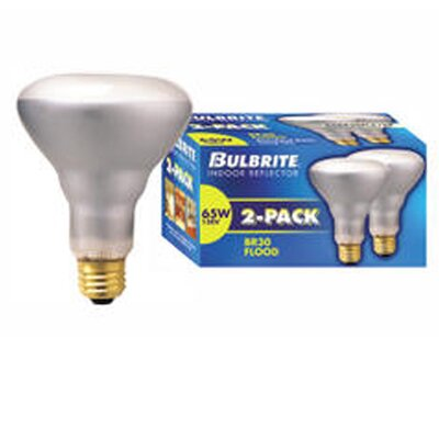 Bulbrite Industries 65W 120-Volt (2700K) Incandescent Light Bulb (Pack of 2)