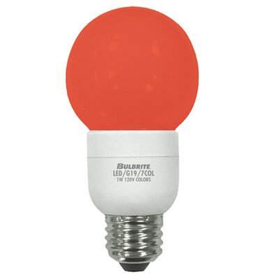 Bulbrite Industries 1W Orange 120-Volt LED Light Bulb